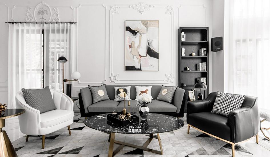 法式輕奢家庭裝修設計效果圖